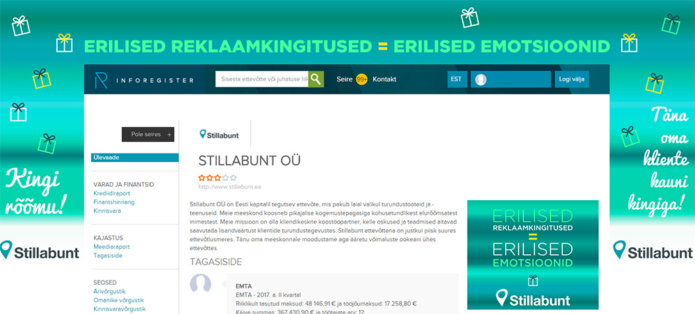 Stillabunt profiil Inforegistris